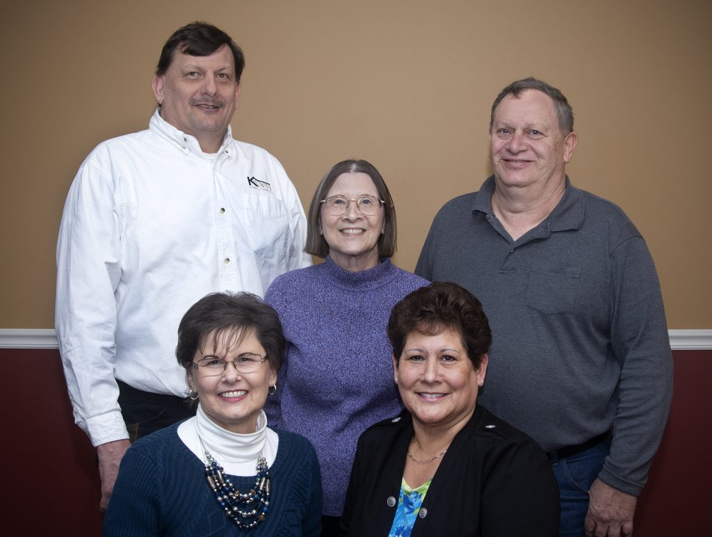 Top Row: Kevin Koch, Kathy Koch, Fred Koch Jf., Bottom Row: Gail (Koch) McGowen, Janice (Koch) McGowen
